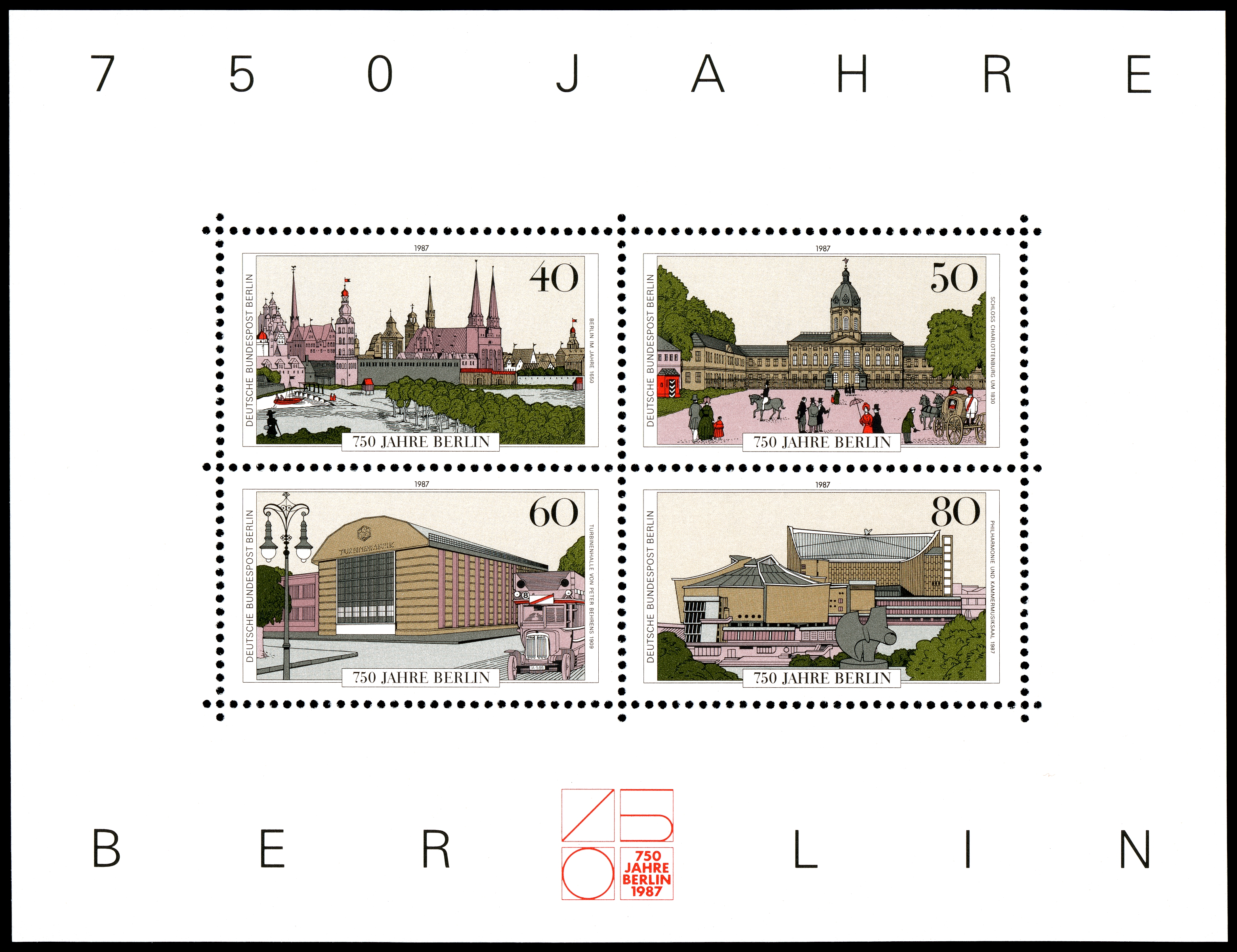 Stamps of Germany (Berlin) 1987, MiNr Block 8