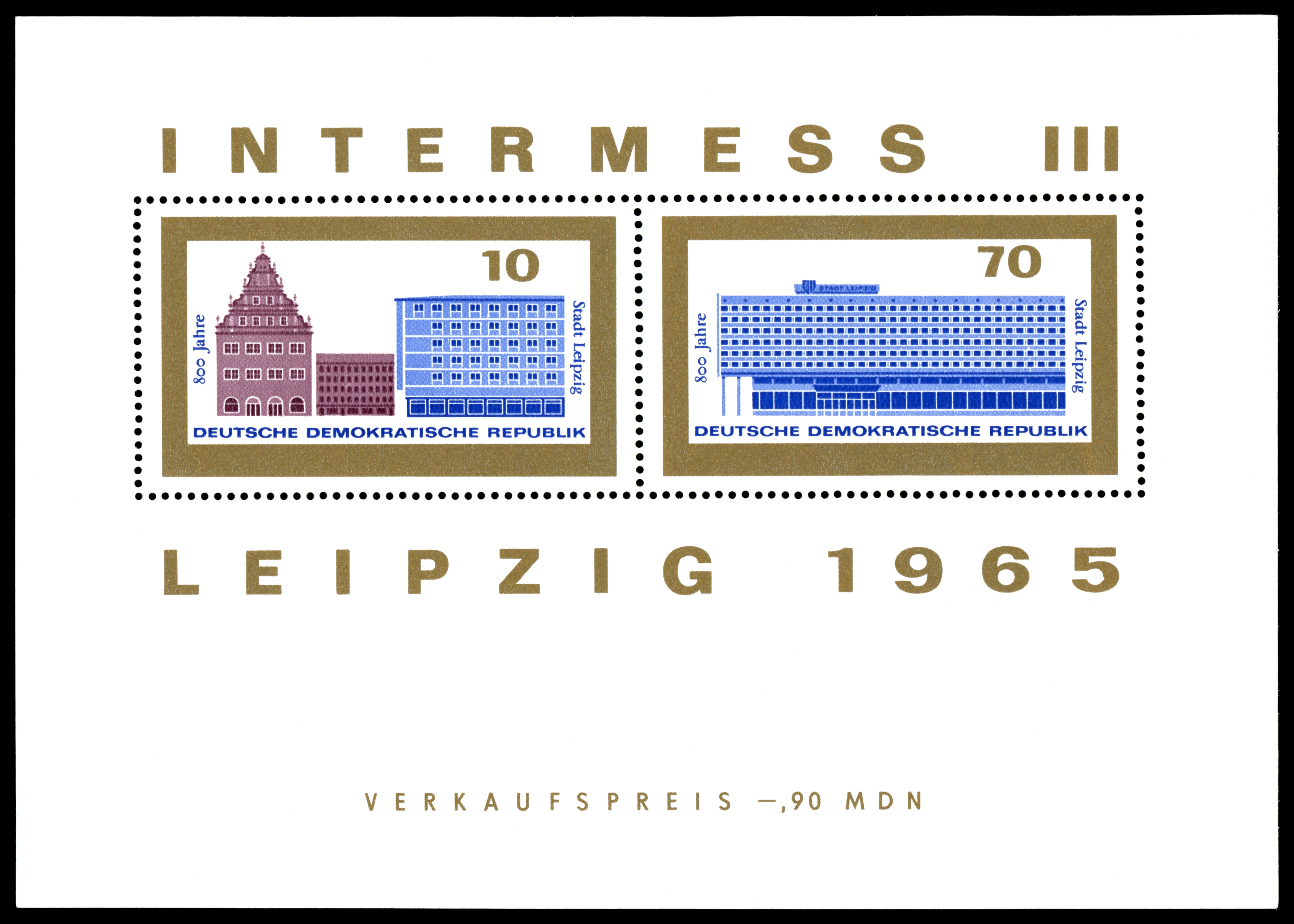 Stamps of Germany (DDR) 1965, MiNr Block 023