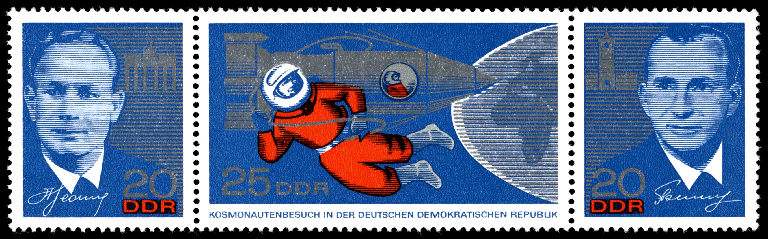 Stamps of Germany (DDR) 1965, MiNr Zusammendruck 1138-1140