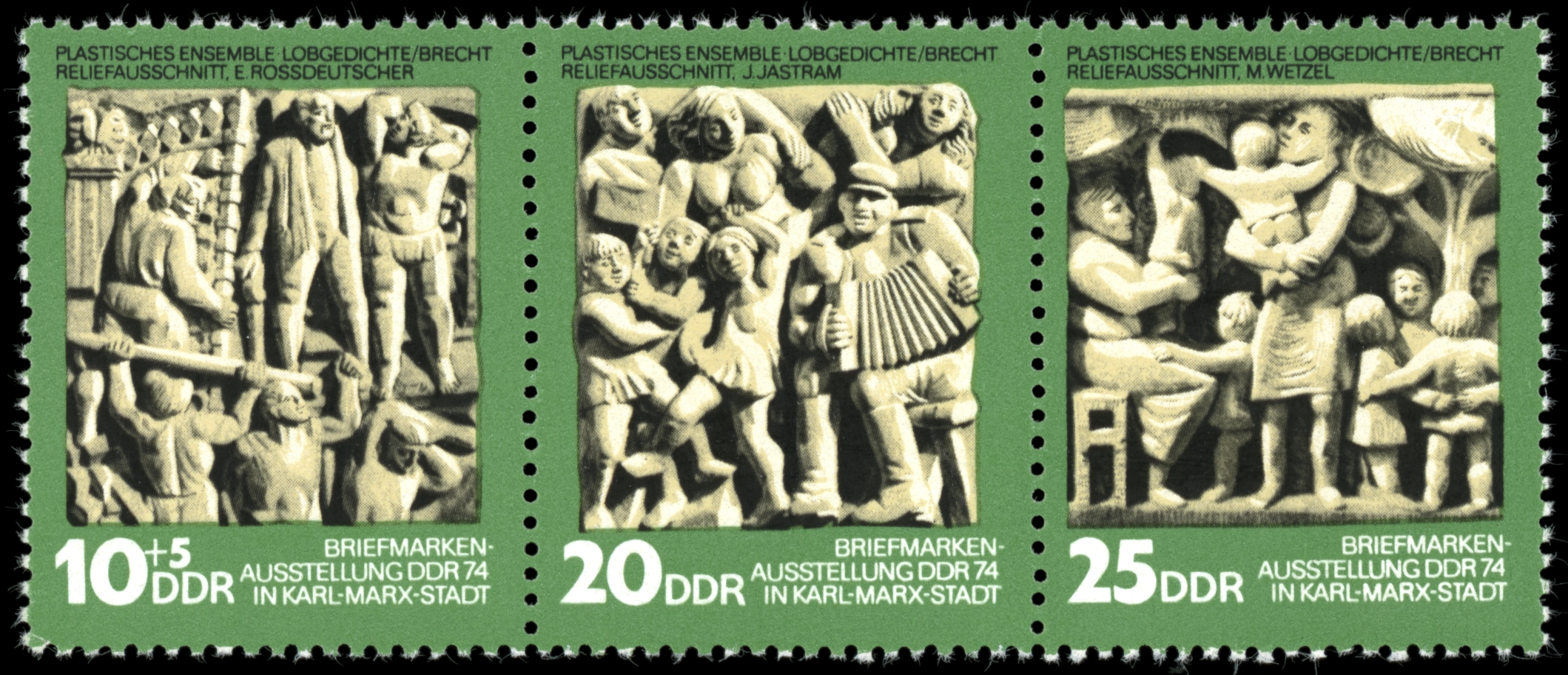 Stamps of Germany (DDR) 1974, MiNr Zusammendruck 1988-1990