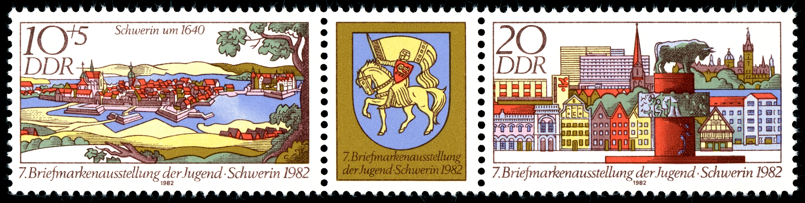 Stamps of Germany (DDR) 1982, MiNr Zusammendruck 2722, 2723