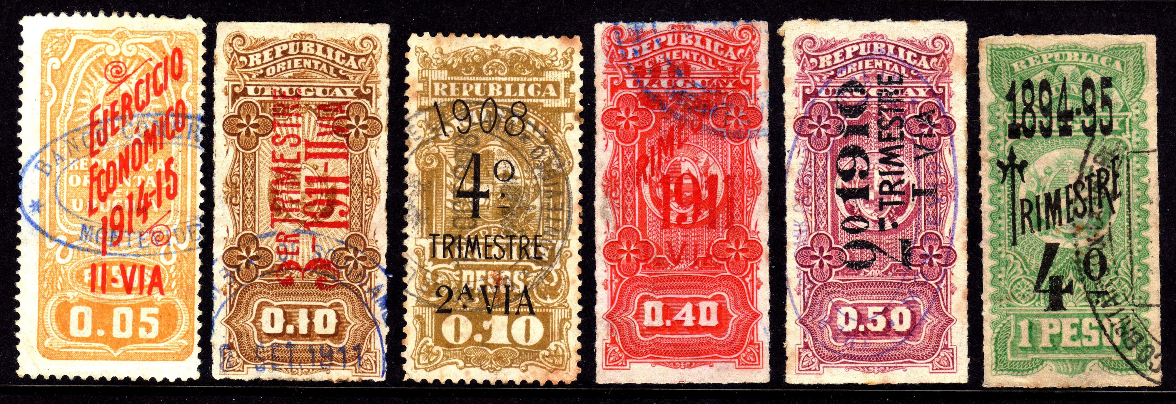 Revenue stamps of Uruguay