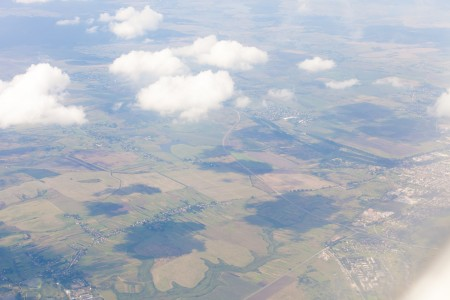 Earth from an airplane somewhere between Lviv and Tivat in August 2014, picture 1