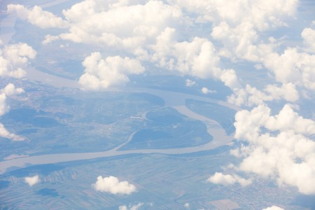 Earth from an airplane somewhere between Lviv and Tivat in August 2014, picture 4