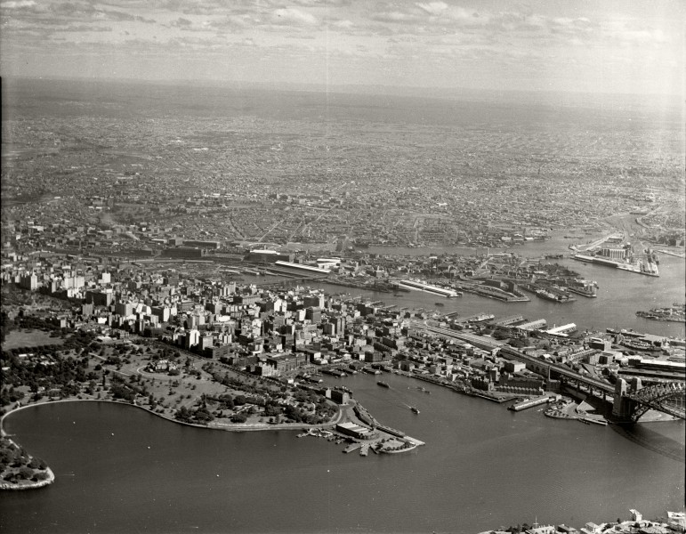 Sydney - Farm Cove, City and Western Suburbs from Mosman Bay - 29 March 1937 (29642264814)