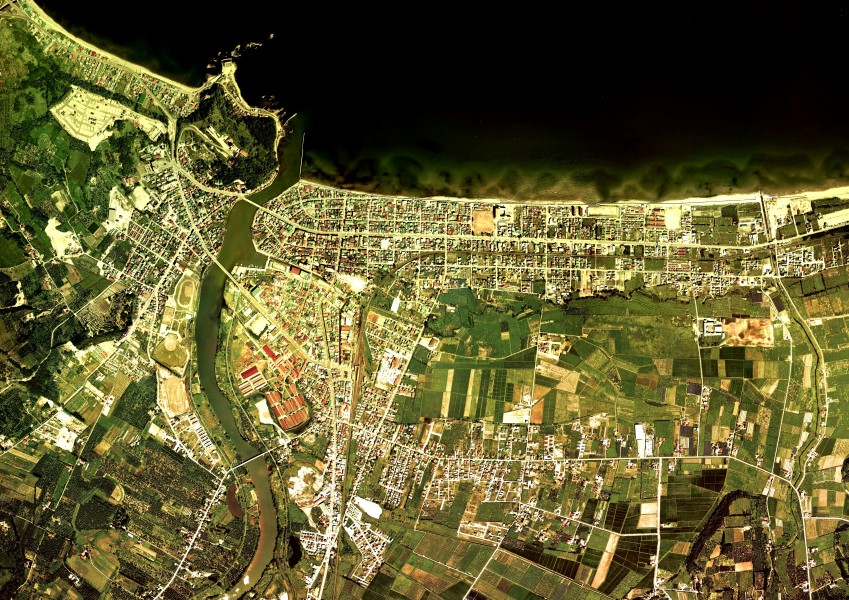 Yoichi town center area Aerial photograph.1976