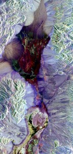Death Valley as seen from the Space Shuttle's synthetic aperture radar instrument