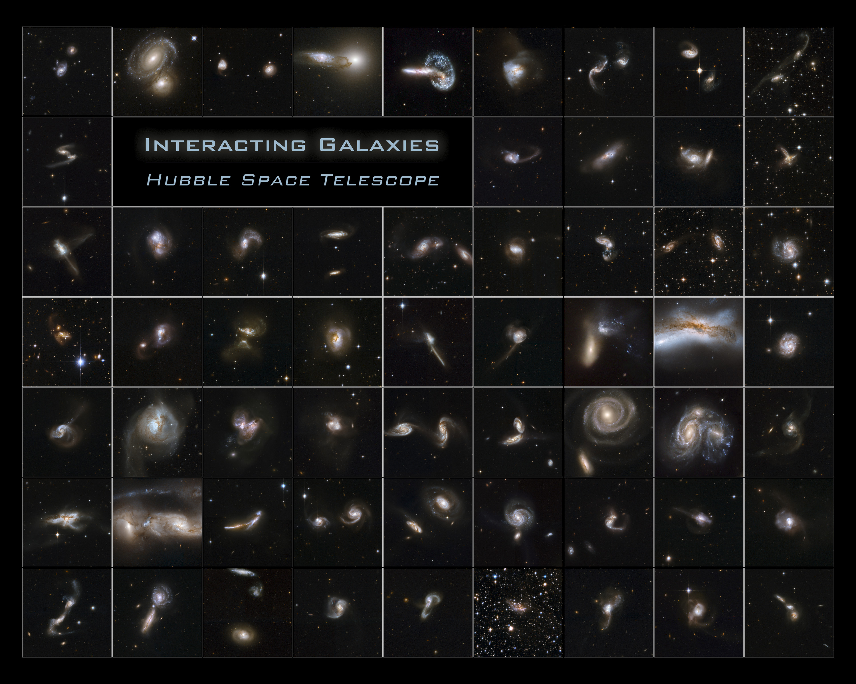 Hubble Interacting Galaxies Poster (2008-04-24)