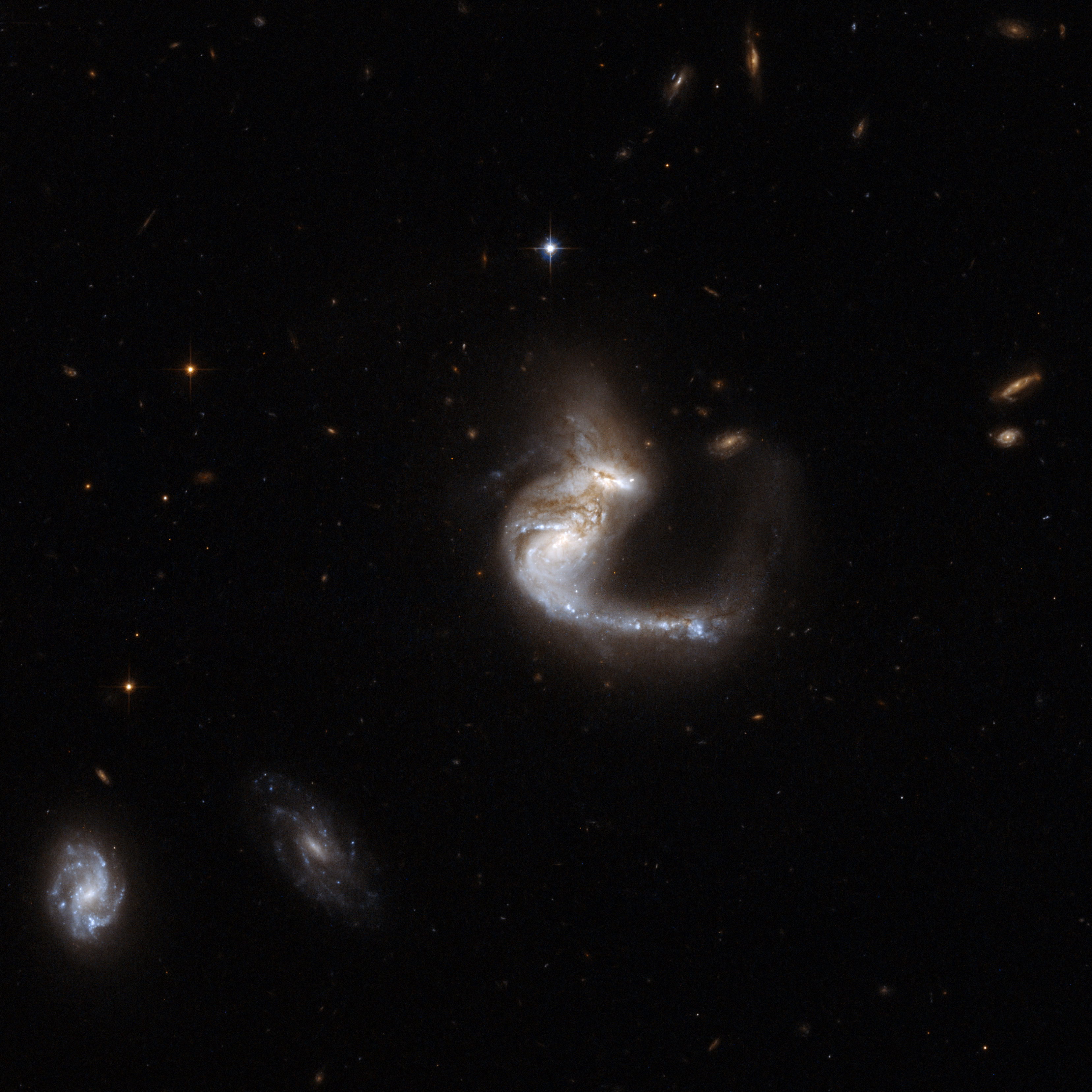 Hubble Interacting Galaxy UGC 4881 (2008-04-24)
