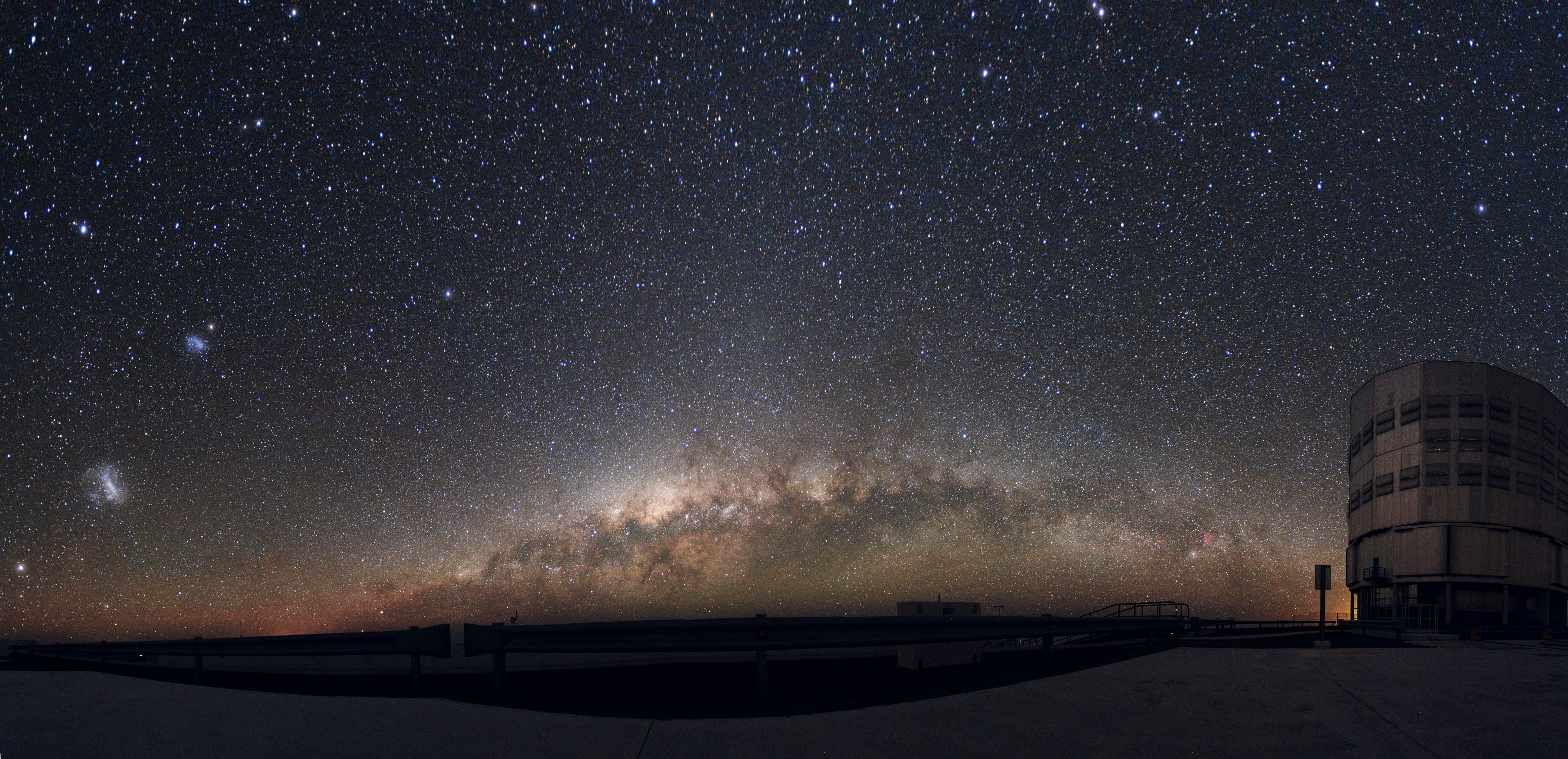 Panoramic Large and Small Magellanic Clouds