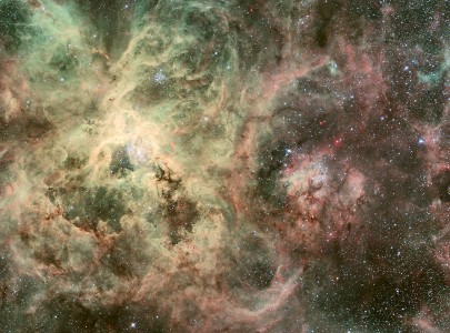 Runaway Star, R136, 30 Doradus Nebula, Large Magellanic Cloud
