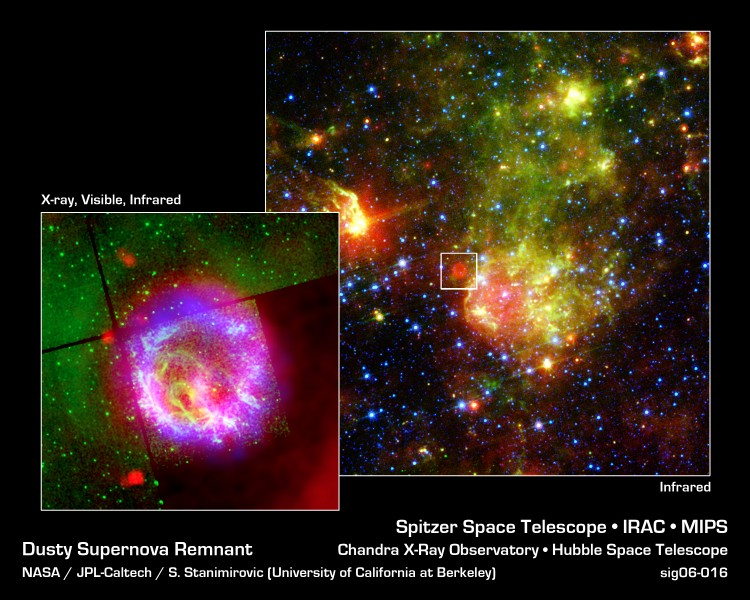 Dusty Supernova Remnant
