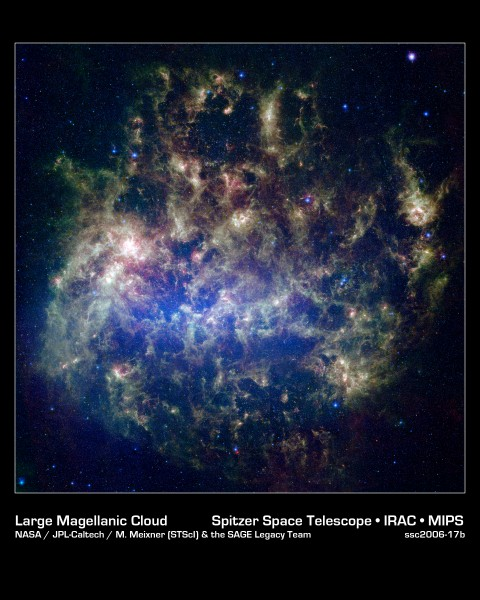 Large Magellanic Cloud in Infrared