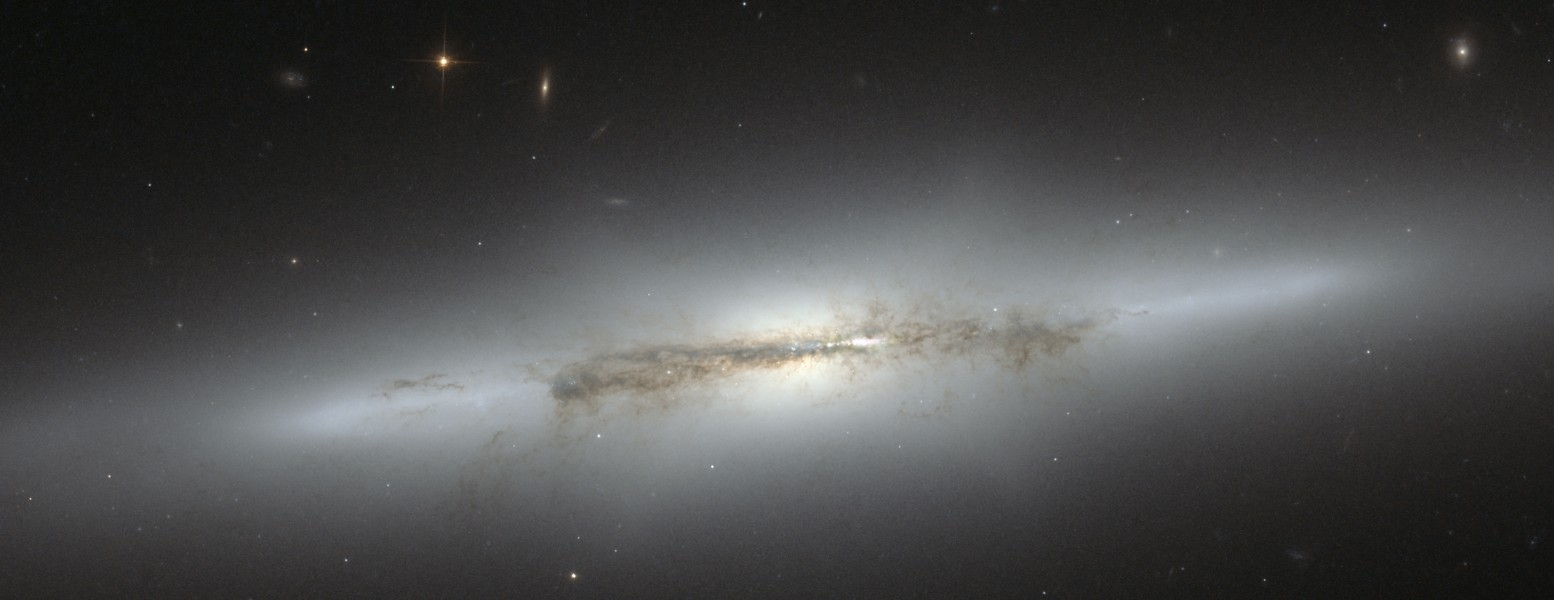 NGC 4710 (captured by the Hubble Space Telescope)
