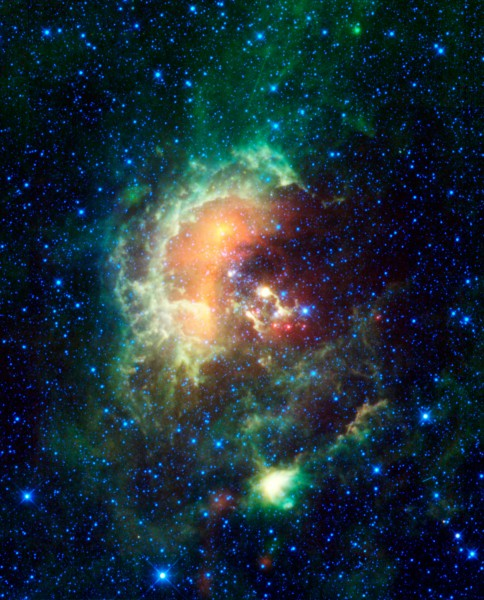 Tadpole Nebula with Asteroid