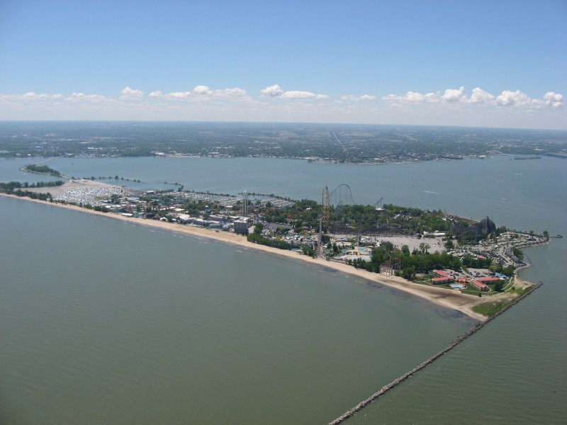 Cedar Point from the air