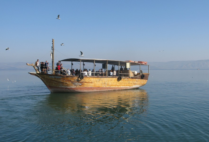 a boat at the Sea of Galilee, Israel