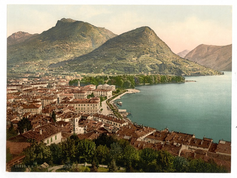 Lugano, and Monte Brè, Tessin, Switzerland-LCCN2001703236