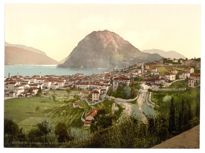 Lugano, from Massagno, Tessin, Switzerland-LCCN2001703235
