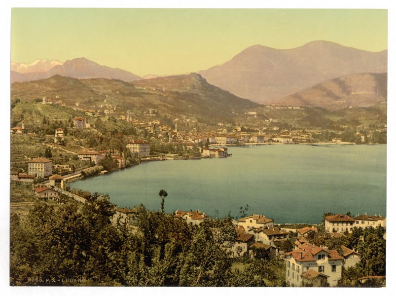 Lugano, from San Salvatore, Tessin, Switzerland-LCCN2001703233