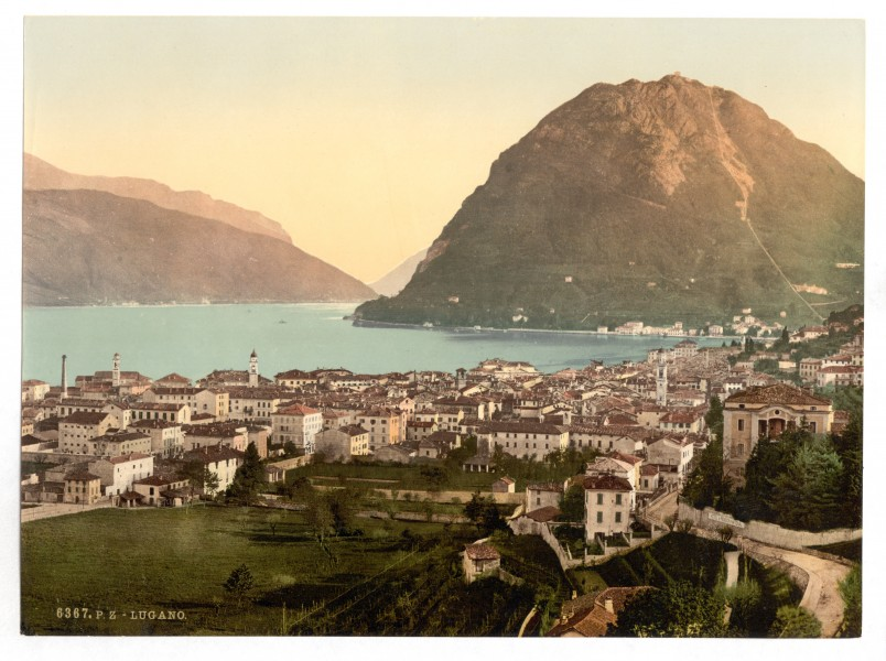 Lugano, general view, Tessin, Switzerland-LCCN2001703232
