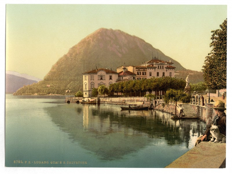 Lugano, the quay, and San Salvatore, Tessin, Switzerland-LCCN2001703241