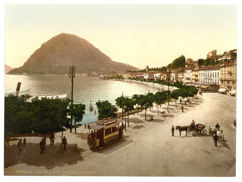 Lugano, the quay, and San Salvatore, Tessin, Switzerland-LCCN2001703242