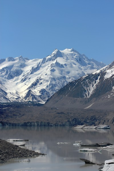Tasman Lake, Tasman Glacier and the Minarets