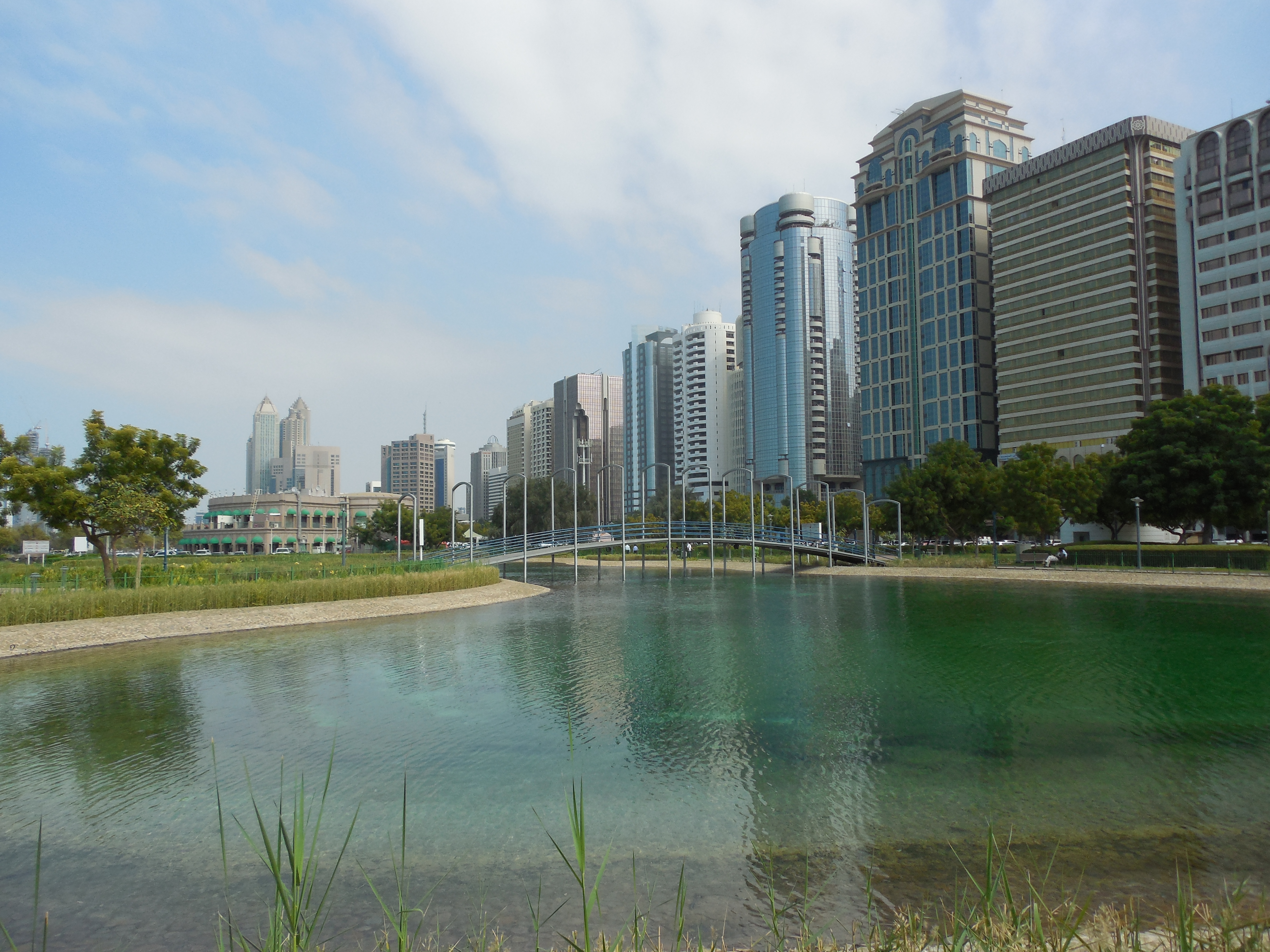 A view from Lake Park in Abu Dhabi, UAE