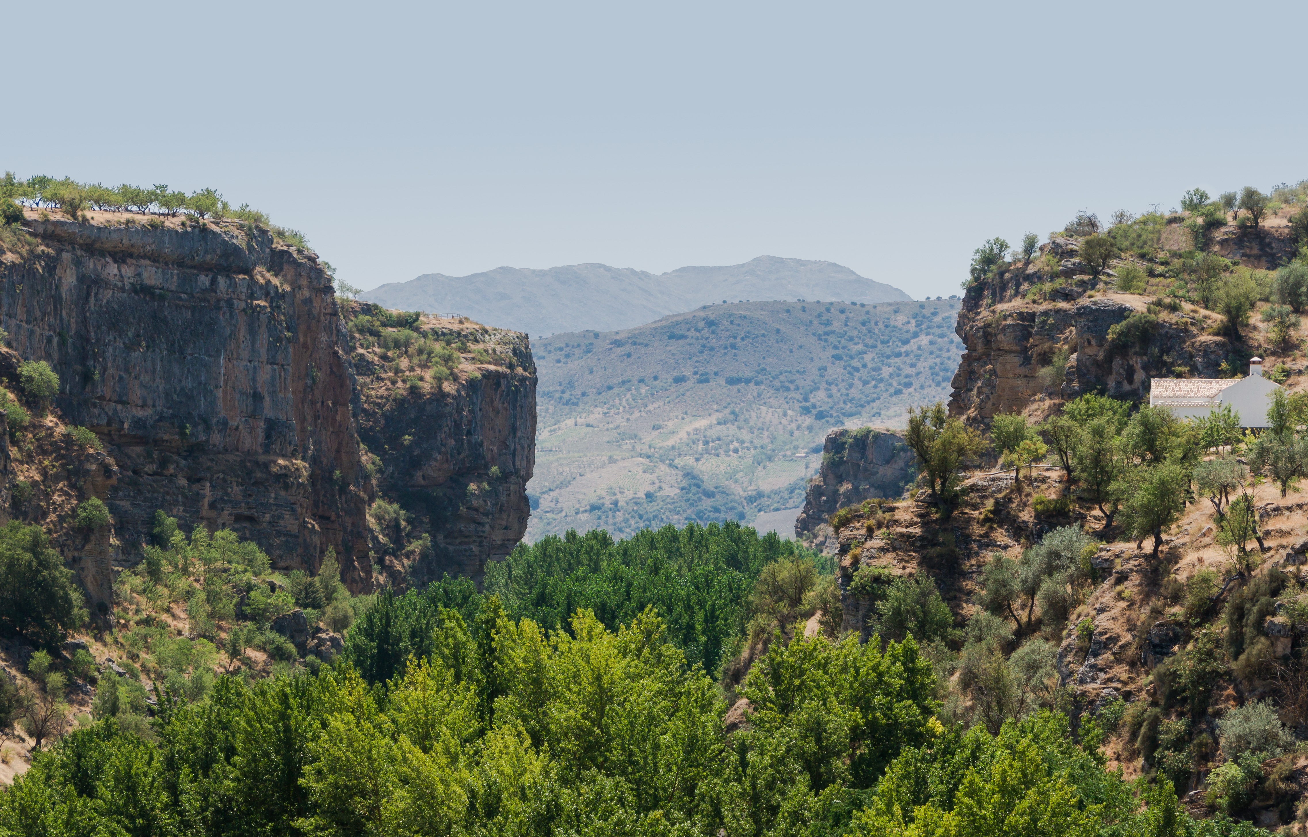 Canyon of Rio Alhama, Alhama de Granada, Andalusia, Spain