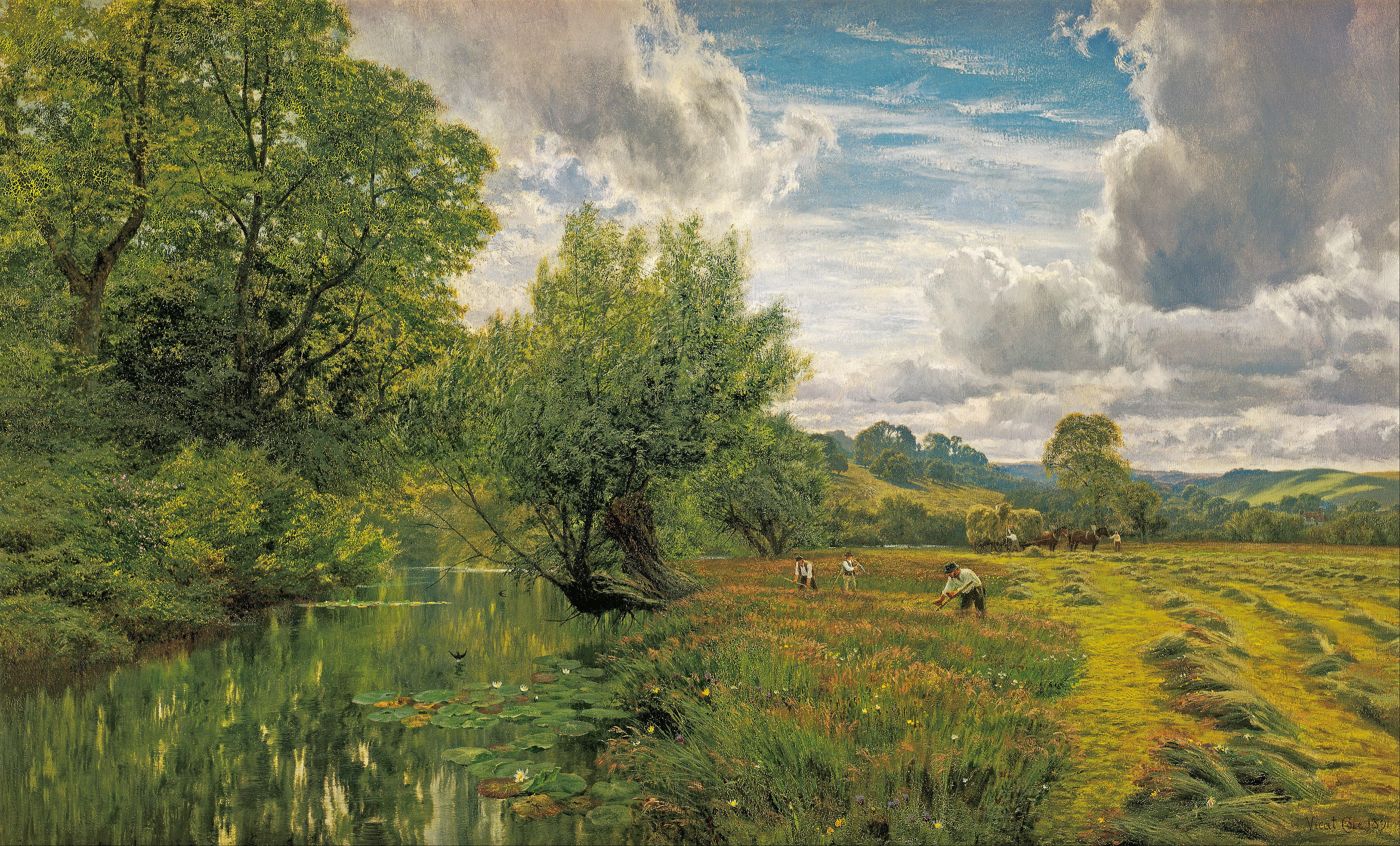 George V. Cole - Hayfield, near Days' Lock, Oxon - Google Art Project