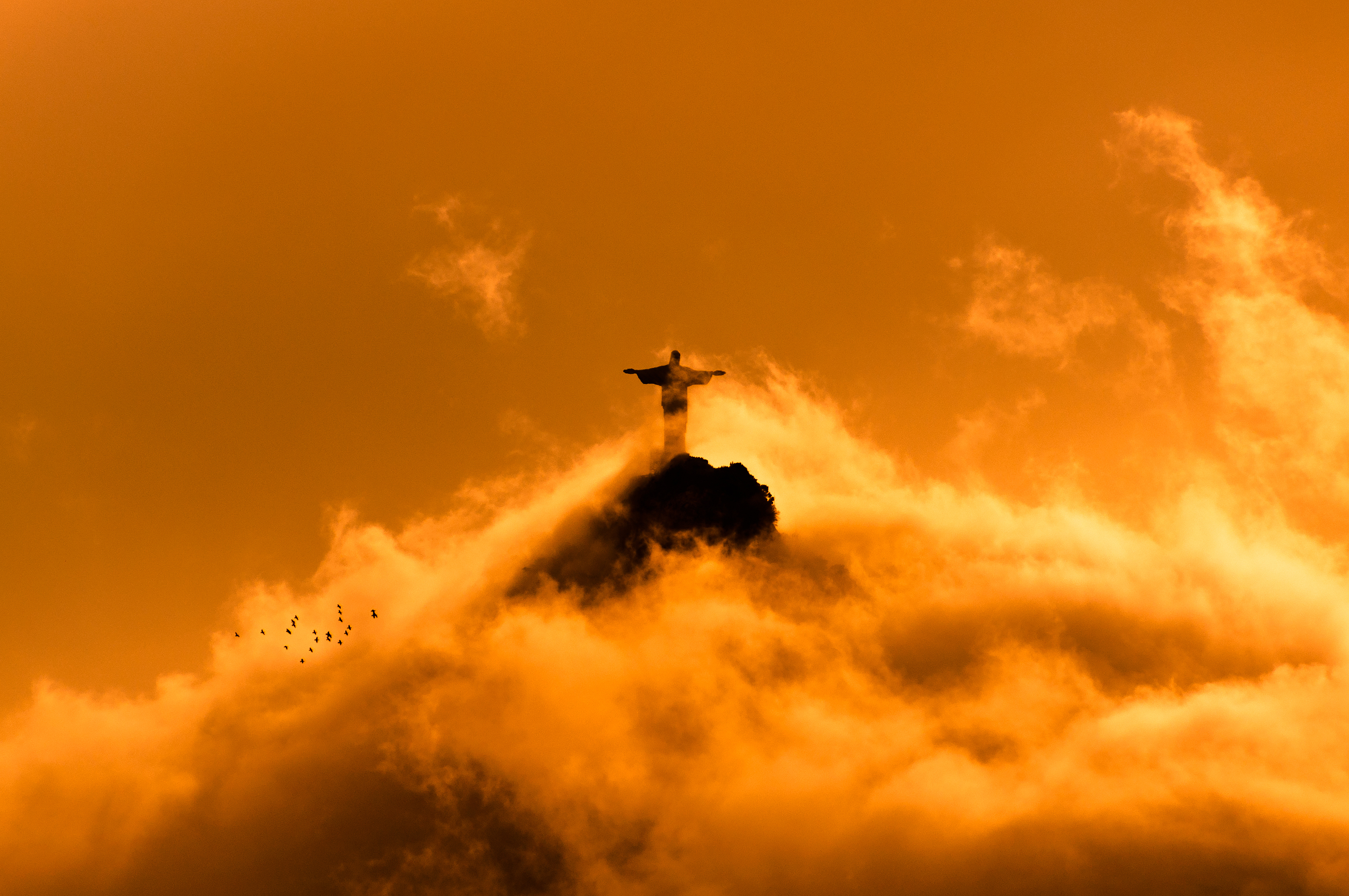Jesus in Clouds by Sunset 2
