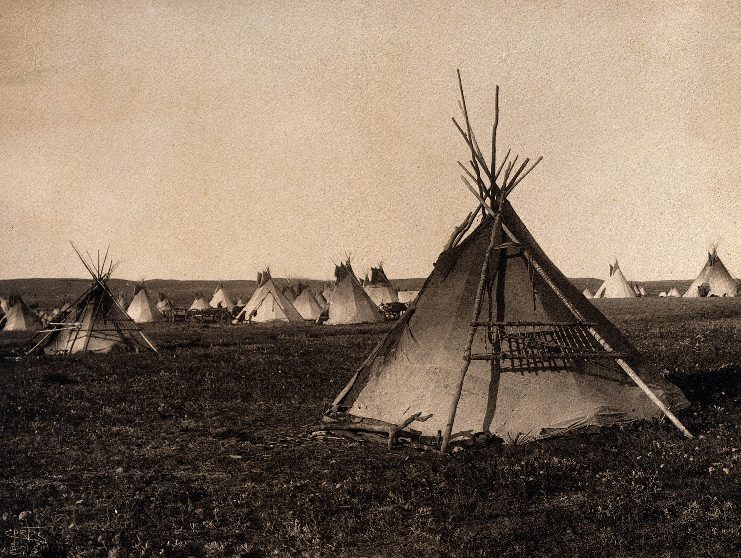 Plains Indian tipi, North America. Wellcome V0038483