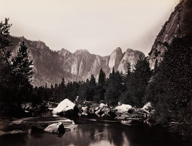 Carleton Watkins, Merced River, Yosemite Valley, California, ca. 1865
