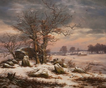 J.C. Dahl - Winter Landscape near Vordingborg, Denmark - Google Art Project