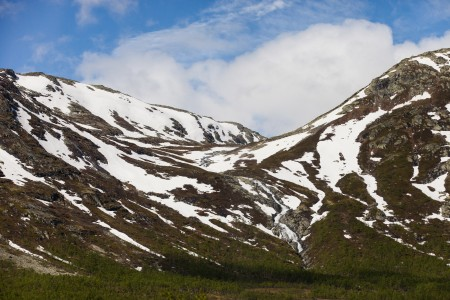 snow-covered mountains in Norway in June 2014, picture 6