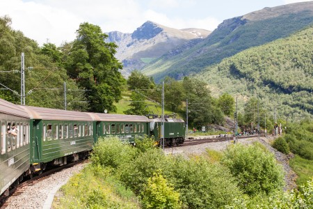 a Flåm line train, Norway, near Flåm, June 2014, picture 25