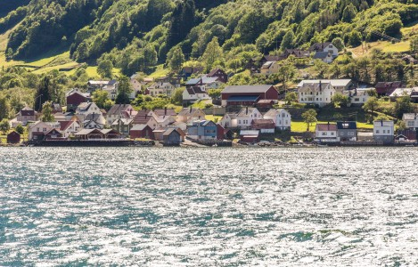 a settlement on a branch of the Sognefjord, Norway, near Flåm, June 2014, picture 66