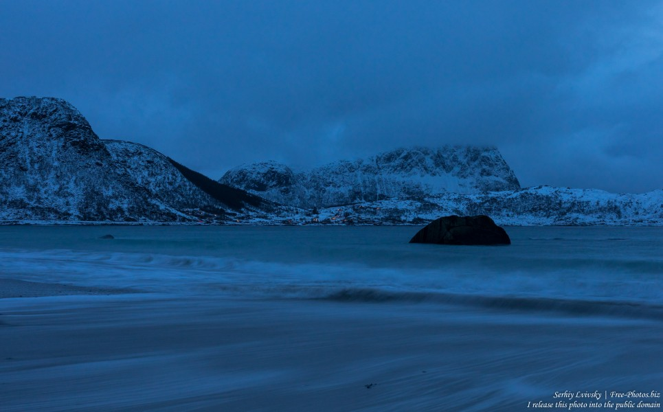 Haukland beach, Norway, in February 2020, photographed by Serhiy Lvivsky, picture 4