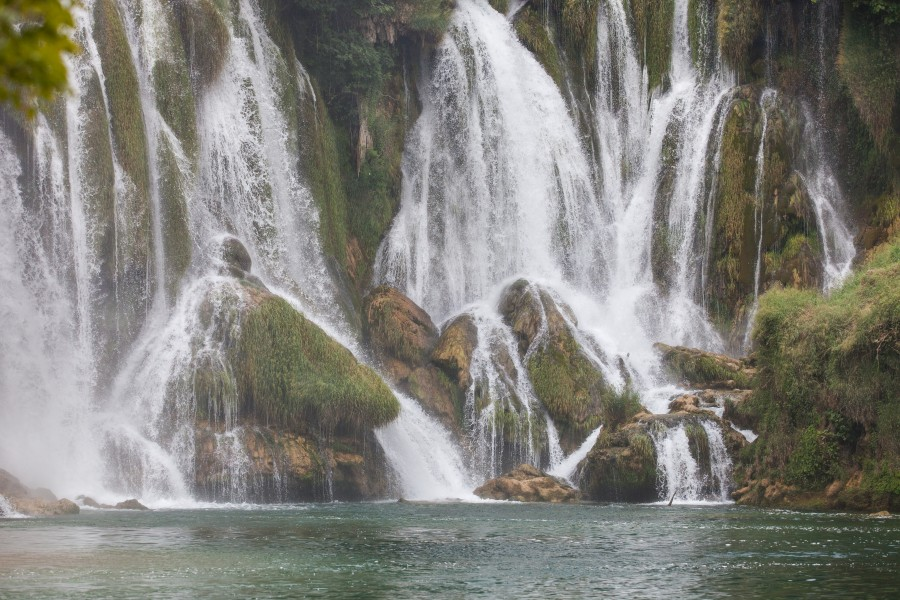 Kravice waterfall near Medjugorje, Bosnia, in July 2014, picture 1
