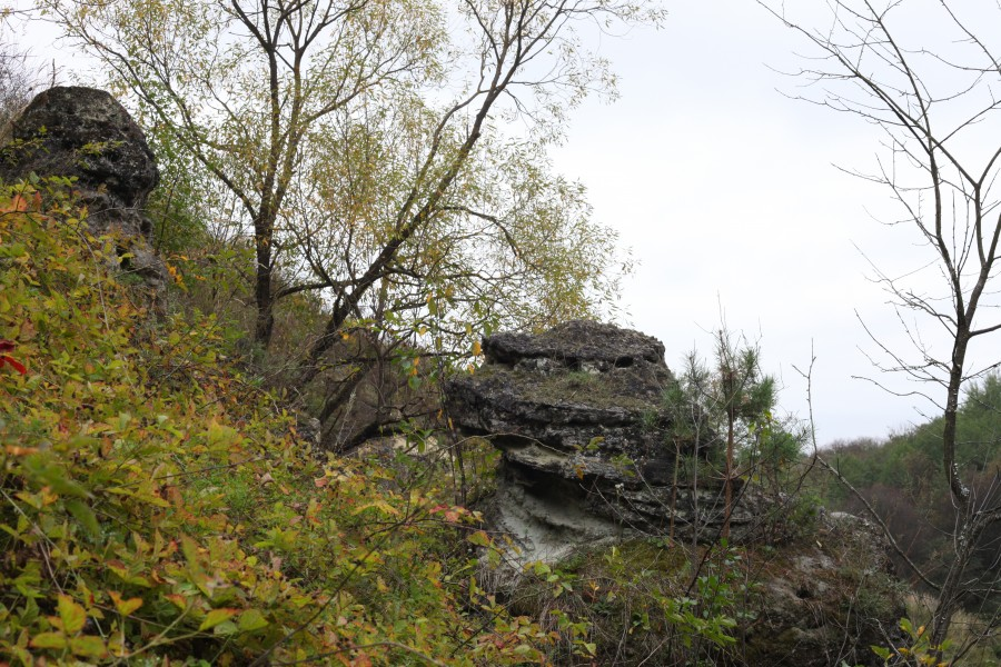 a landscape with rocks in the beginning of October 2012 in Lviv region of Ukraine, picture 1