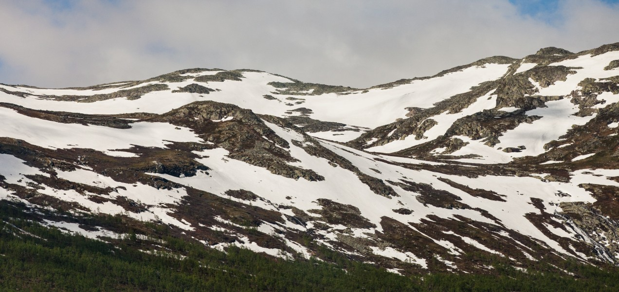 snow-covered mountains in Norway in June 2014, picture 4