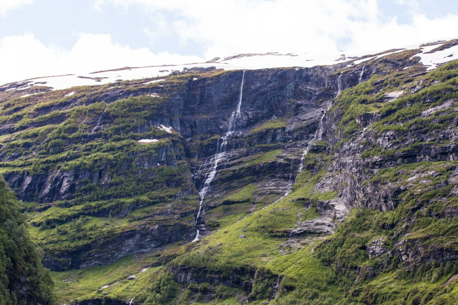 waterfalls in Norway seen from a Flåm line train open window, near Flåm, June 2014, picture 27