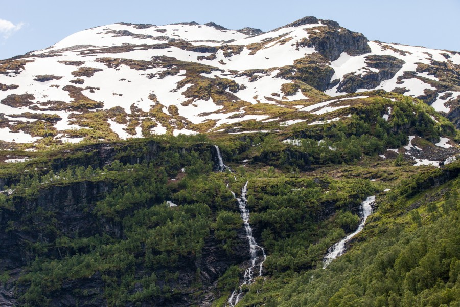 waterfalls in Norway seen from a Flåm line train open window, near Flåm, June 2014, picture 29