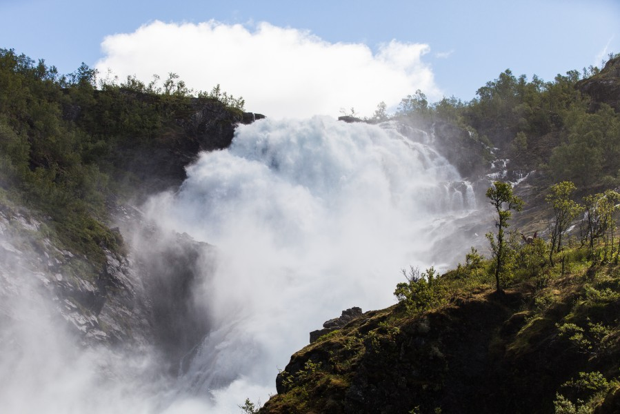 Kjosfossen waterfall, near Flåm, Norway, June 2014, picture 33