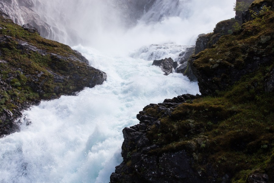 Kjosfossen waterfall, near Flåm, Norway, June 2014, picture 36