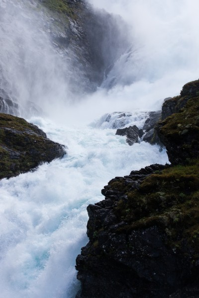 Kjosfossen waterfall, near Flåm, Norway, June 2014, picture 38