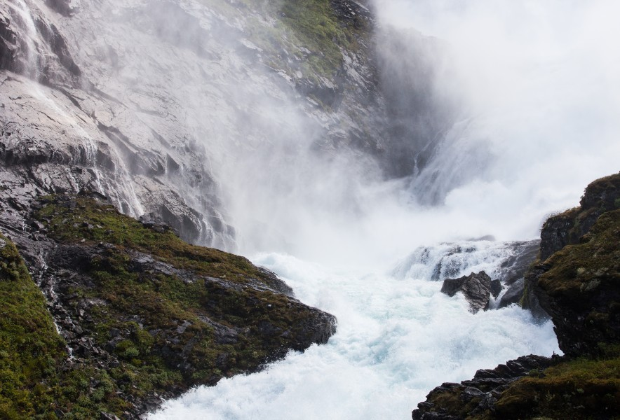 Kjosfossen waterfall, near Flåm, Norway, June 2014, picture 39