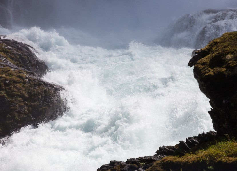 Kjosfossen waterfall, near Flåm, Norway, June 2014, picture 44