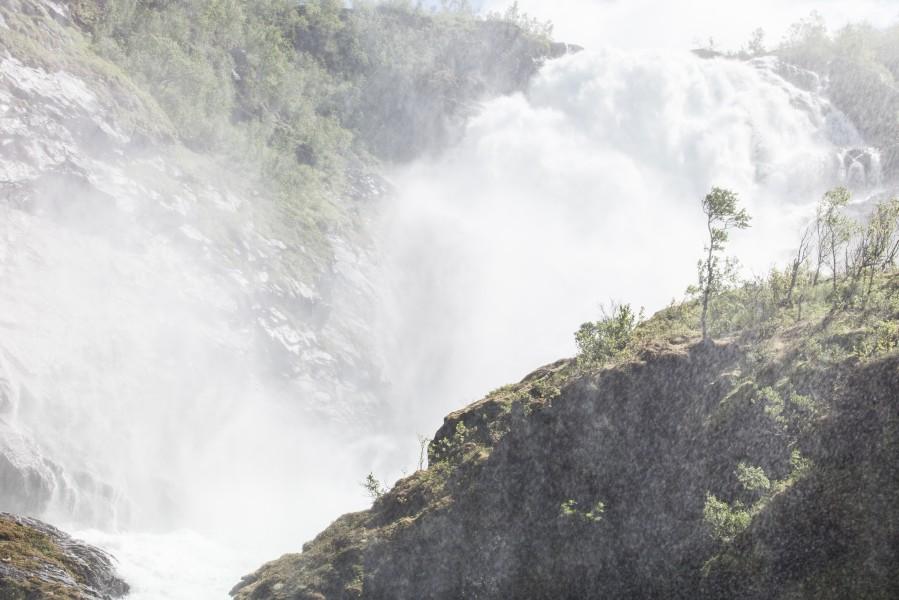 Kjosfossen waterfall, near Flåm, Norway, June 2014, picture 45